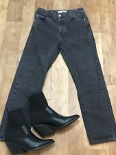 """Topshop Moto Faded Blk Dark Grey Skinny High Waisted Cropped Jeans W25"""" L26"""" A28"""