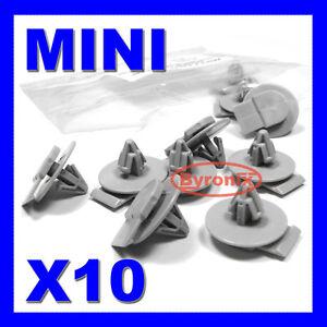 MINI WHEEL ARCH TRIM CLIPS ONE S D SD COOPER COUPE ROADSTER R55 R57 R58 R59