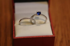 and wedding band Berricle silver engagement