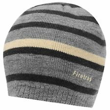 Firetrap Mens Pull On Beanie Stripe Striped Knitted