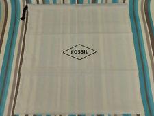 Canvas bag Fossil medium drawstring cream cotton dust gift pe storage bags new