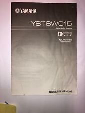 yamaha subwoofer Yay-sw015 owners manual 10 pages owners manual speaker yamaha