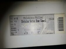 1 FULL TICKET PHILLIES ROY HALLADAY NO HITTER 2010 NLDS HOME GAME 1