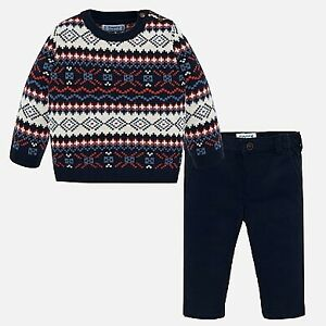 New Mayoral Boys 2 piece Trouser and pattern jumper age 18 months  (2545)