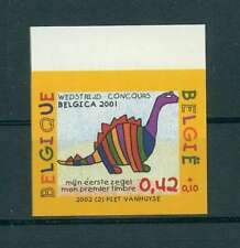 BELGIEN DINISAURIER 2002 PROOF IMPERF!! DINOSAUR DINOSAURE DINOSAURS RARE! h1516