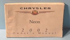 02 2002 Chrysler Neon owners manual