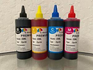4x250ml refill ink for Epson EcoTank ET-2500 ET-2550 ET-4500 ET-4550