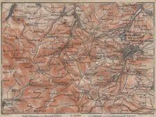 Friedrichroda & Thüringer Wald. Brotterode Großer inselsberg Turingia 1910 Mapa