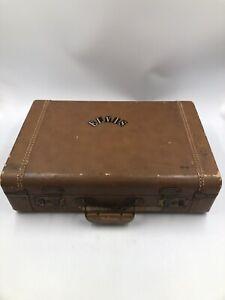 Sky Cruiser VTG Brown Hard Shell Travel Suitcase Luggage ~ ELVIS sticker