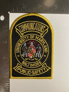 UNIVERSITY OF MARYLAND BALTIMORE PUBLIC SAFETY COMMUNICATIONS PATCH