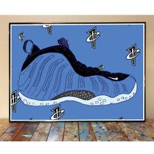 NIKE AIR FOAMPOSITE OG ROYAL BLUE SNEAKER ART PRINT PENNY HARDAWAY 1 CENT