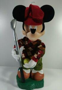 "Disney Mickey Mouse Holiday Animation Golfer Christmas Decoration 22"" Untested"