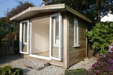 More details for insulated and double glazed light brown garden room/log cabin 3.14mx2.5mx2.4m