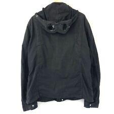 "CP Company Black Zip Up Hooded Goggle Jacket Overshirt Size 2XL XXL PTP 23.5"""