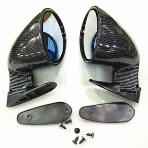 2x ABS F1 Style Racing Rear View Side Wing Blue Plane Mirror Fits for Car Front