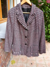 """Belle veste , genre """"d'une célèbre marque"""" prénommée """"Coco"""" ,chinée rose/ noire"""
