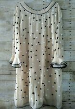 Almatrichi Madrid Spain 3/4 Sleeve Sheath Dress Polka Dots Size 46(EU) 16(US)