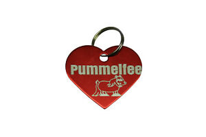 Anhänger Pummelfee, rot metallic inkl. Gravur als Schlüsselanhänger Pferde