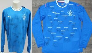 2016-17 Rangers Home Shirt Squad Signed inc. Tavernier, Miller & Wallace COA
