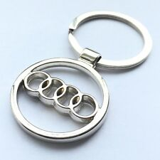 Audi Car Logo Keychain 3D Chrome Metal Car key Chain keyring With Logo