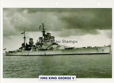 1939 HMS KING GEORGE V Battleship Capital Ship / GB Warship Photograph Maxi Card