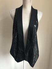 River Island Womens Black Embellished Waistcoat Size 14 (51)