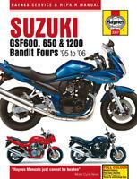 3367 Haynes Suzuki GSF600, 650 & 1200 Bandit Fours 1996 - 2006 Workshop Manual