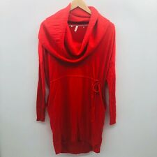 Victorias Secret Womens Small Multiway Long Sleeve Sweater Dress Cowl Neck Red