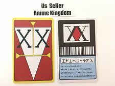 USA Seller Cosplay Hunter x Hunter 1 Star & 2 Star Hunter License Card Gon Ging