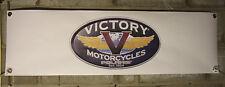 victory motorcycle    large pvc  garage work shop banner man cave show banner