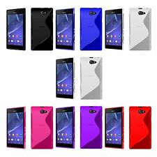 Case For Sony Xperia M2 S-Line Silicone Gel Skin Tough Shockproof Phone Cover