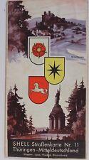 28273 SHELL Straßenkarte Nr. 11 Thüringen Mitteldeutschland Kassel Erfurt 1930