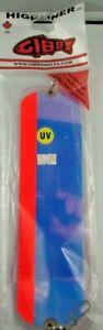 """NEW 11"""" Gibbs - Highliner Moon Jelly / UV Red Stripe - Salmon Downrigger Flasher"""