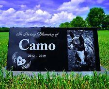 12x6 Pet grave marker, dog tombstone, memorial plaque, rainbow bridge