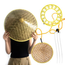 Chinese Oriental Japanese Coolie Bamboo Cone Sun Hat for Farmer Garden Fishing
