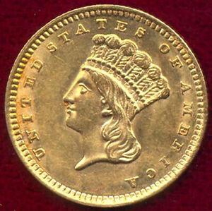 1858 G$1 - Gold Dollar++