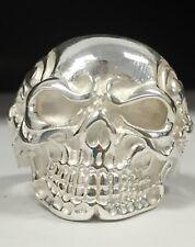 925 Sterling Silver Skull Ring Biker Heavy Solid Sz 11 NEW Alien Made In USA