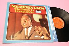 MEMPHIS SLIM LP THE BLUES IS EVERYWHERE ORIG USA 1973 EX TOOPPPP JAZZ BLUES