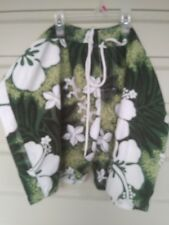 Shay Bouvier size 21 womans surf shorts in green hawaiian pattern;worn one time!