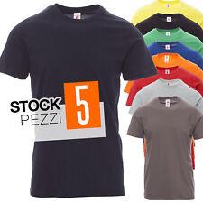 Stock Pacco 5 Magliette Da Lavoro T-Shirt Maniche Corte Cotone Payper Print