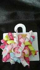 NWT GYMBOREE HAPPY BIRTHDAY PINK BLUE WHITE GREEN HAIR CURLIES Barrettes 2 pack