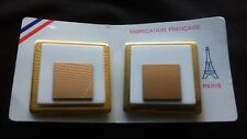 Vintage Earrings Nos New Old Stock From Paris France 1980's Big Chunky Jewelry