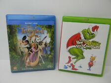 Tangled & How The Grinch Stole Christmas [Two Blu-ray / Dvd Movies]
