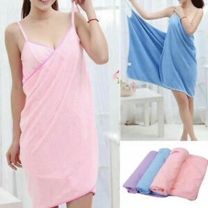 Wrap Around Microfibre Towel for Bath Beach Pool Gym Spa Dress Quick Dry