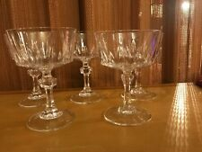 Cris D'arques Durand Crystal VERSAILLES - Lot of 5 Champagne Sherbet Glasses