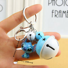 Cute Lilo & Stitch Keychain with Bell Figure Pendant Keyring Accessories Gift