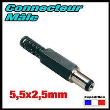 951/1# Prise mâle alimentation 2,5 x 5,5mm DC