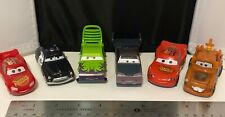 Disney Pixar Cars Lot of 6 Various Plastic Toy Vehicles Loose