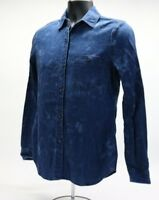 Ag Adriano Goldschmied Womens Button Down Shirt Distressed Denim Sz Small EUC B