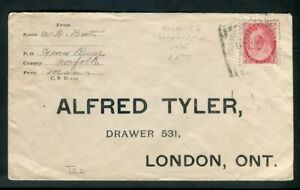 Souris & Winnipeg RPO No 2  Squared Circle Cancel Small Queen Tyler Cover